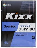 KIXX GEARTEC 75w90 GL-5 4L